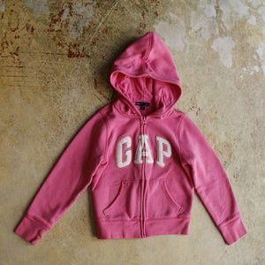 Gap logo hoodie sweatshirt full zip pink